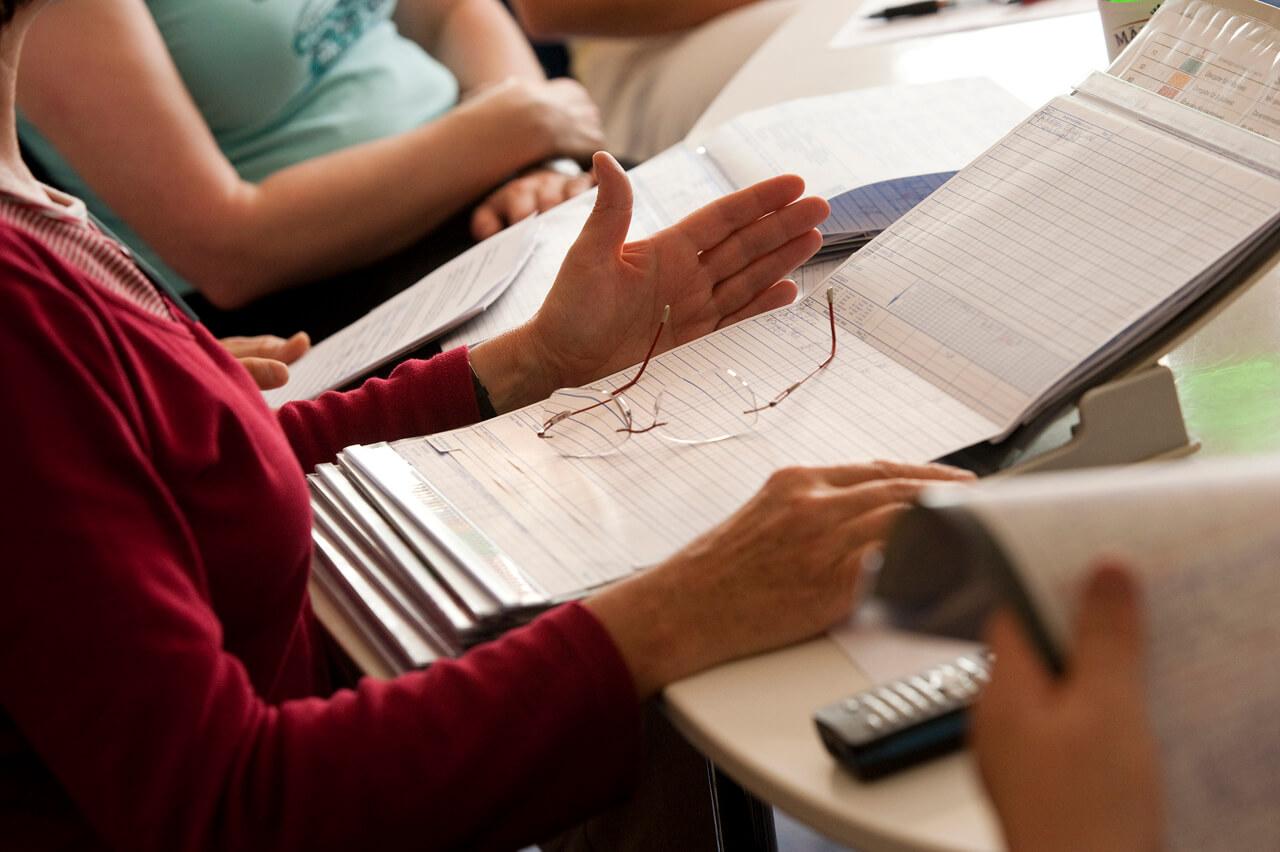 Team-Übergabe im Ricam Hospiz Foto: (C) Cathrin Bach - Konzept und Bild